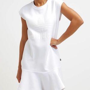Adidas white mini dress